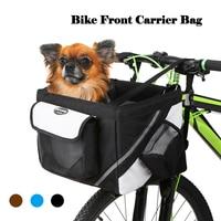 Cycling Top Tube Frame Front Carrier Bag Bicycle Handlebar Basket Bike Front Box Pet Dog Cat 600D Oxford Fabric Bike Basket