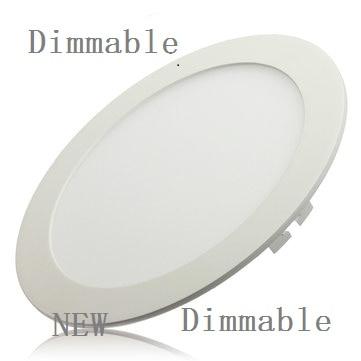 10ks / lot Stmívatelný Ultra tenký 3W / 4W / 6W / 9W / 12W / 15W / 25W LED Stropní osvětlení stropní svítidlo