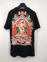 LAUKEXIN Skateboard Thailand Hip Hop Black T Shirts High Quality 3D Printing Cotton Tees Buddha Top Tee Mens tshirt Tops US Size