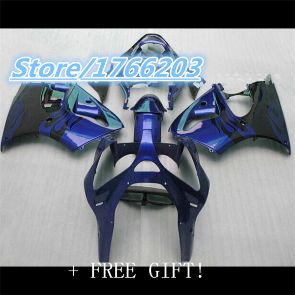 Us 33081 11 Offinjection Hot Sale Abs Black Blue Fairing Bodywork Kits For 2000 2002 Kawasaki Zx6r Motorcycle Accessories Parts Ning In Covers