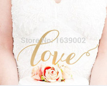 5sets  Free Shipping Gold Glitter love sign wedding cake topper party cupcake decoration