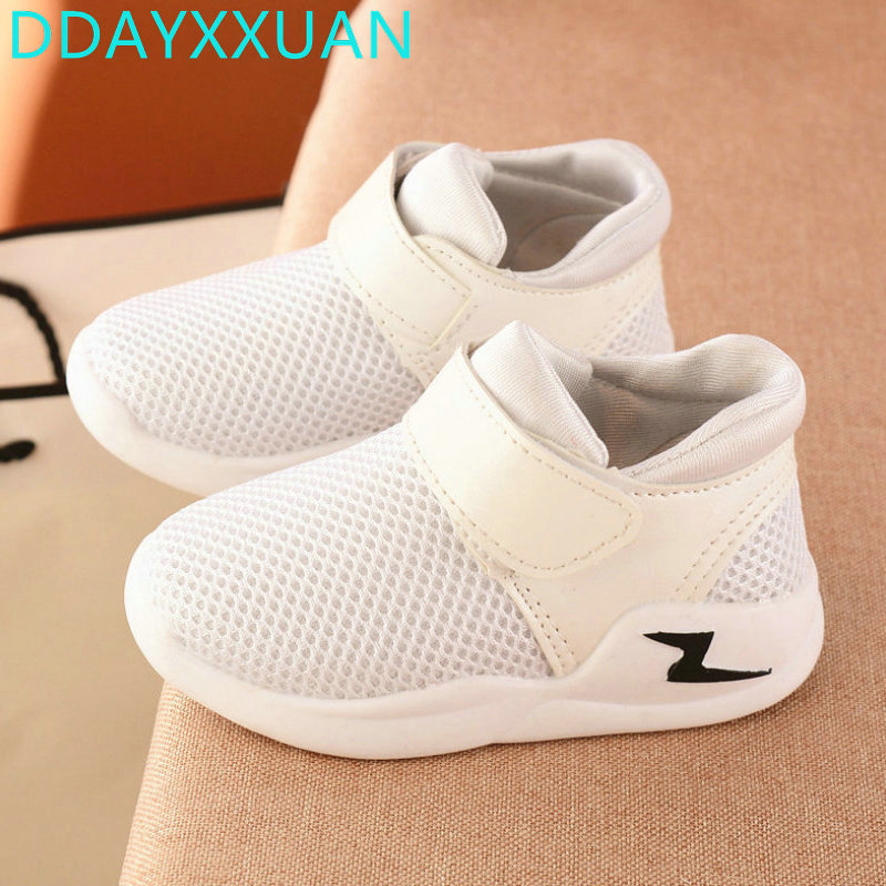 Kids Sneakers Air Mesh 2017 New Toddler Spring Breathable Children Sports Shoes Girls Casual shoes for boys Sneaker EU 21~25