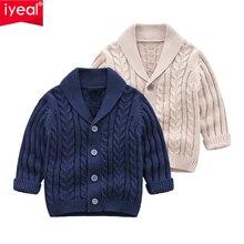 IYEAL/свитер-кардиган для мальчиков г. Новое Модное детское пальто повседневный весенний Детский свитер для школы одежда для младенцев, верхняя одежда для детей от 0 до 24 месяцев