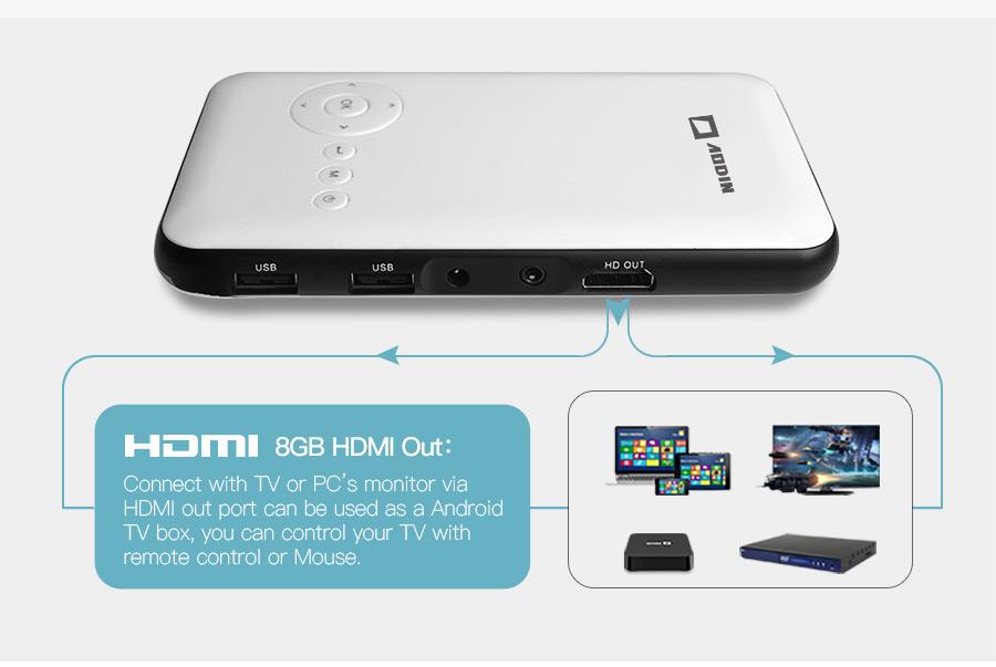 AODIAN AODIN 3D HD Mini projector DLP support 1080P video 8G pico pocket projector for home theater HDMI smart led portable projectors-12
