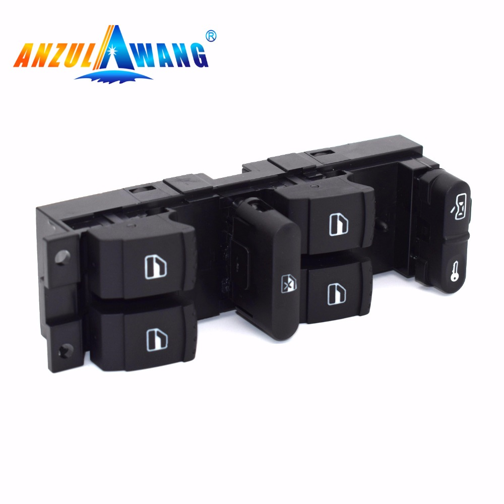 ANZULWANG 1J4959857D 1J4 959 857 D ELECTRIC MASTER WINDOW SWITCH MASTER FOR VW GOLF JETTA MK5 6 TIGUAN PASSAT BRAND NEW(China)