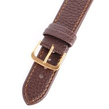 High Quality  Soft  PU Outdoor Men Litchi Stripe PU Leather Watches Strap Pin Buckle