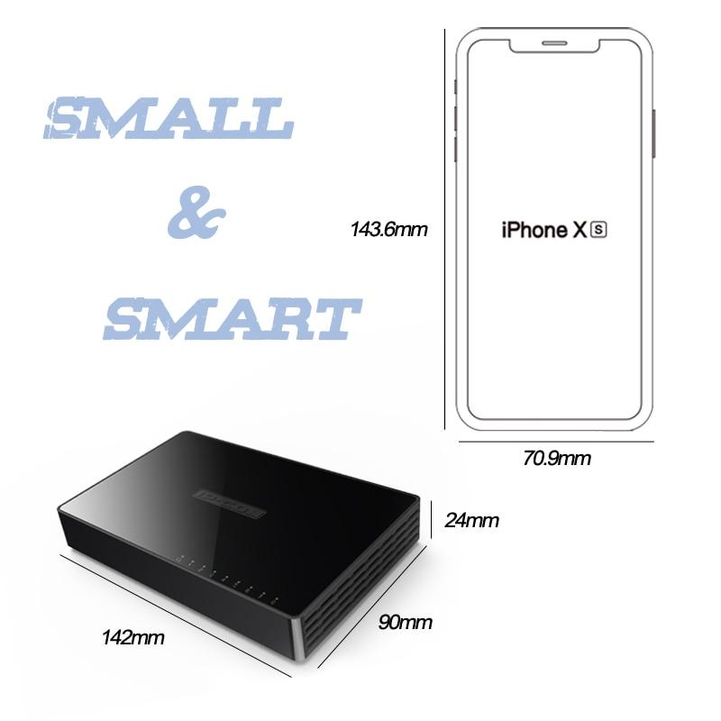 Image 2 - 8 Port Gigabit Network Switch 8 port 10/100/1000Mbps Desktop Fast Ethernet Switcher lan hub Small and Smart mini 8 port switch-in Network Switches from Computer & Office