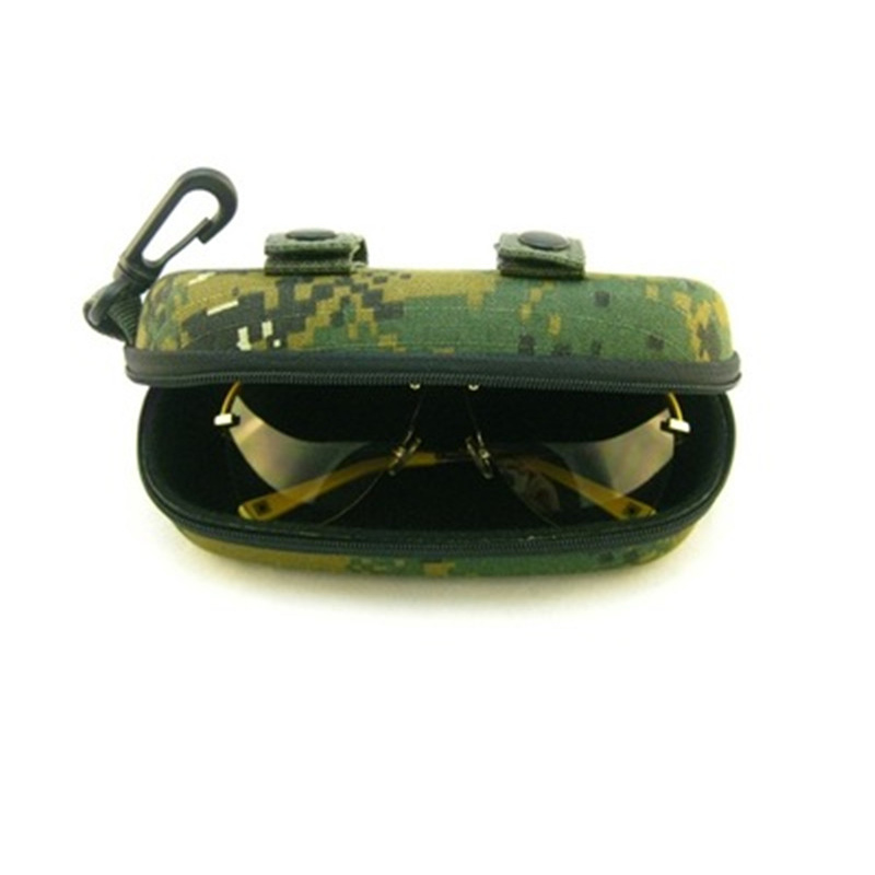 Tactical Portable Sunglasses Box Camouflage Molle Zippered Goggle Box Glasses Bag Case Outdoor EDC Accessory Bags First Aid Kit