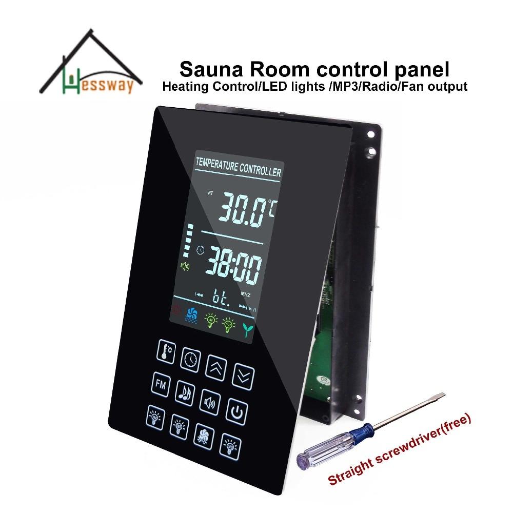LCD szauna teremvezérlő panel többfunkciós hő-, mp3-, FM-, fénykibocsátással