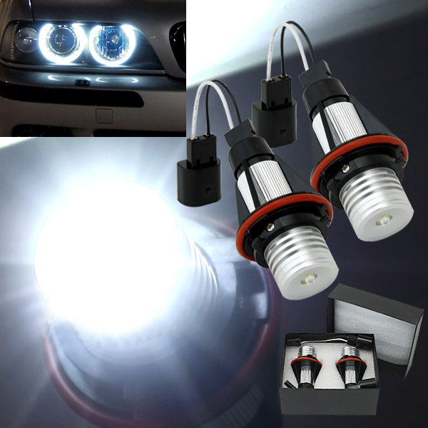 7000k LED Angle Eyes Halo Xenon Marker Ring Light Bulb Canbus For BMW E39 E53 E60 E61 E63 E64 E65 E66 X5 brand new 7000k led angle eyes halo xenon marker ring light bulb canbus for bmw e39 e53 e60 e61 e63 e64 e65 e66 x5