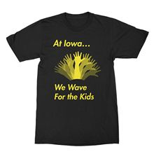 Iowa Hawkeyes Shirt Iowa WAVE T-Shirt Iowa Football Wave For The Kids Tee Free shipping newest Fashion Classic Funny Unique gift wall iowa bicent series