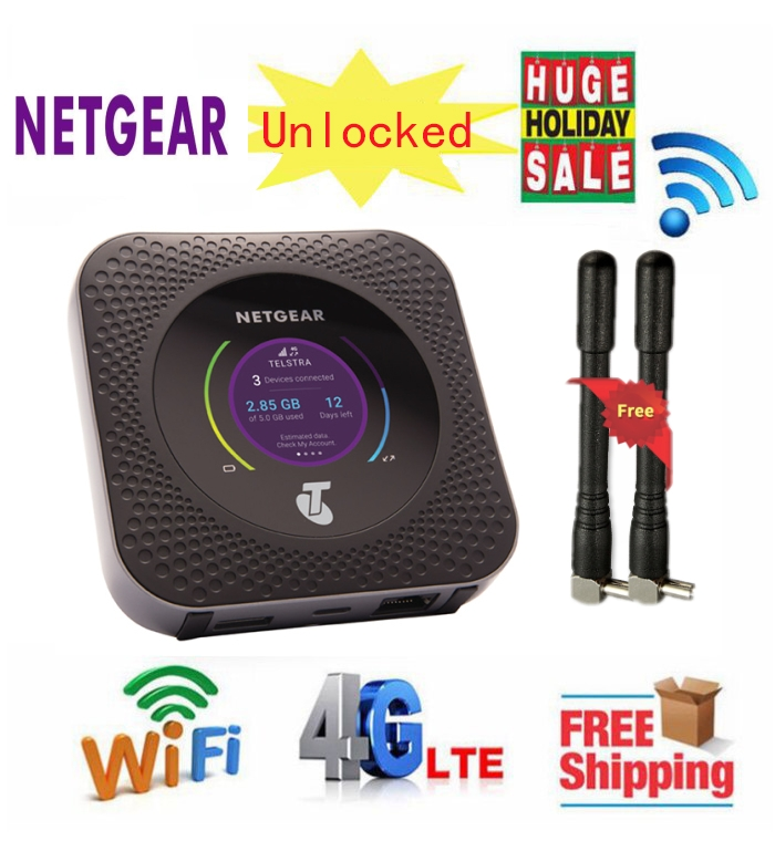 Unlocked NEW Netgear Nighthawk M1 MR1100 CAT16 4GX Gigabit LTE Mobile Router WiFi Hotspot Router With Antenna