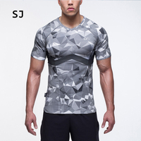 SJ 2017 Cosplay Costume Reverse Flash 3D Printed T shirts Men Short Sleeve Compression Shirt Fit Clothing Tops Male