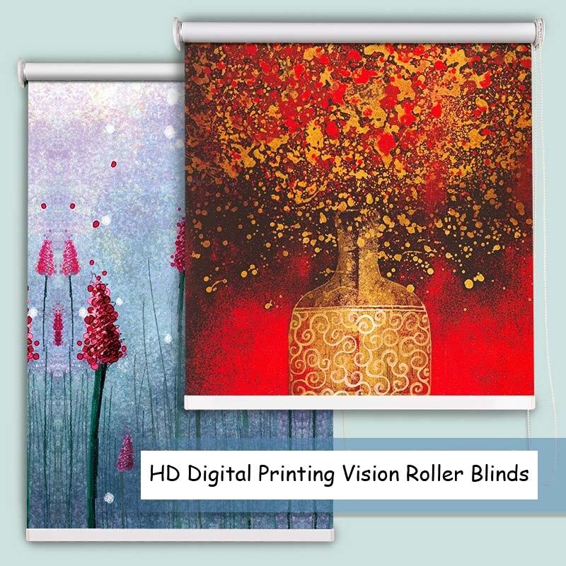Impresora digital HD Vision, cortinas de pintura decorativa para habitación de estudio, persianas enrollables para dormitorio, tamaño personalizado Nuevas luces de techo modernas, lámpara de comedor de diseño moderno, lámpara colgante de cristal, sombra blanca, brillo Acrílico