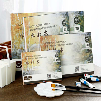 300g/m2 Watercolor Paper 20Sheets Hand Painted Water-soluble Book Creative Office school supplies art