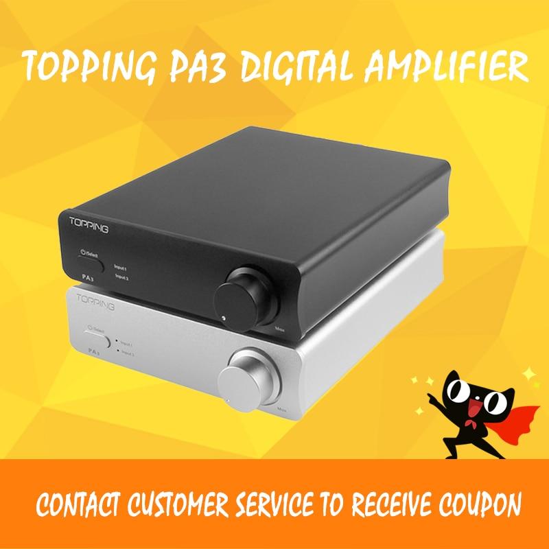 NEW TOPPING PA3 TDA7498E Desktop HiFi audio Digital Amplifier amplificador 80W * 2 topping pa3 desktop hifi digital audio amplifier amp stereo black for office decoration