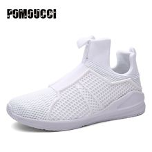 Top Quality Brands Men Sneakers Shoes 2016 New Arrivals Solid Breathable Mesh Outdoor Sports Running Shoes for Men Red White