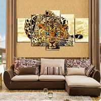 2016 Multi pictures home decoration diy diamond embroidery painting leopard 5pcs/set 100% resin square drill full kits picture