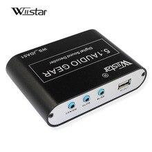 Wiistar 5,1 аудио декодер SPDIF коаксиальный к RCA DTS AC3 цифровой к 5,1 усилитель аналоговый преобразователь с USB для DVD плеера