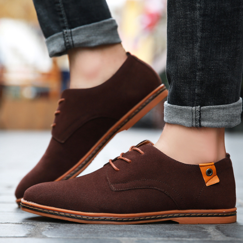 Taille red Choose Cuir 38 Blue Casual Up 48 Hommes Pcs Nouveau 2019 En Homme This Appartements grey Chaussures yellow Mode brown Black Suede Lace Oxford Hombre Zapatillas Printemps dark 100 qf1SwxaT