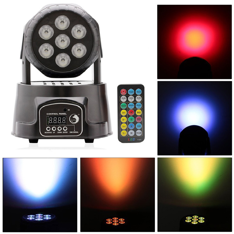 70W RGBW Stage Lighting Effect LED Moving Head Light DJ Disco Party Light + Remote Control
