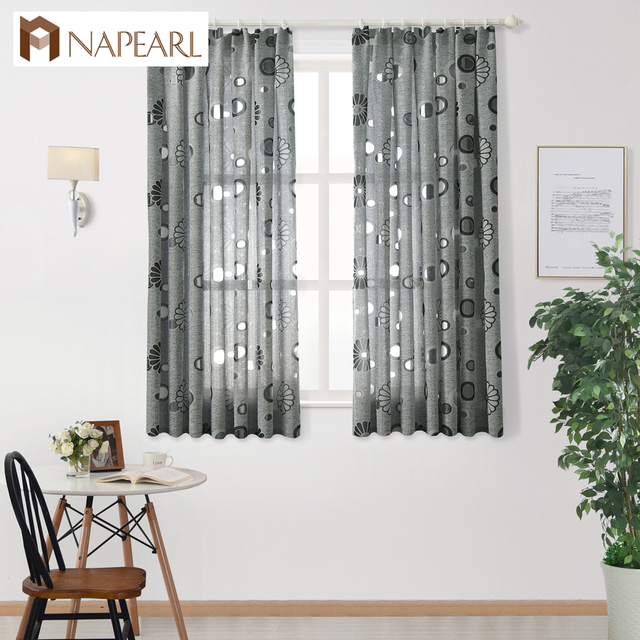 short window treatments small short window curtains ready made design semiblackout floral kitchen curtain panel jacquard style modern semi blackout