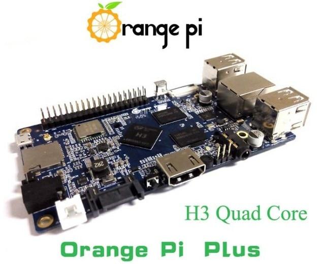 Naranja Pi más H3 Quad Core 1.6 GHZ 1 GB RAM 4 K + WIFI abierto placa de desarrollo raspberry Pi 2 pcduino cubieboard