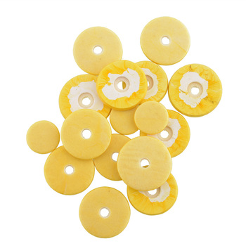 16Pcs/Set Flute Pads 16 Open Hole Great Material 4 Size Pads Yellow For Woodwind Musical Instrument Accessories