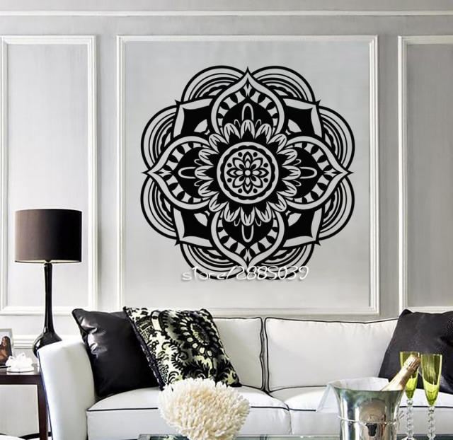 mandala buddhist vinyl wall stickers hindu religion symbol wall
