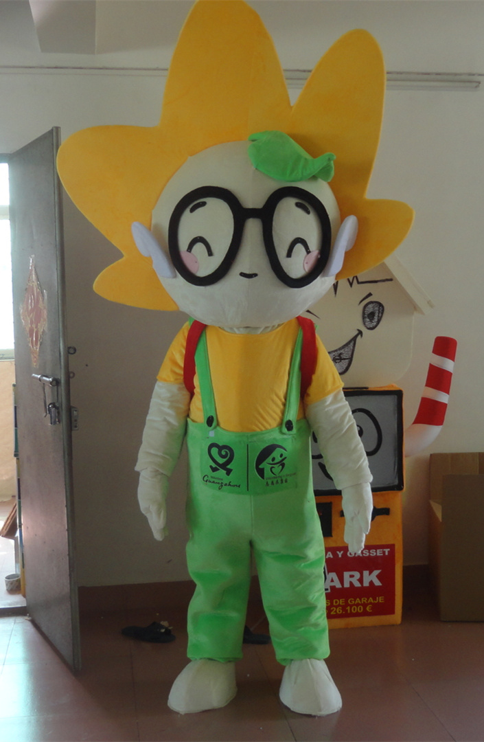 High quality sunshine boy mascot costume for adults free shipping