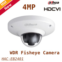 New Arrival Dahua 4mp Coaxial Camera HAC EB2401 4MP HDCVI WDR Fisheye Camera 1 3 CMOS