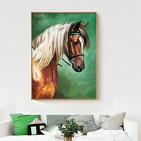 Abstract Picture Horse Pattern Full Diamond Painting Modern Simple Style Restaurant Bedroom Decoration Round Diamond Paintings