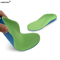 X O Orthopedic Insoles Orthotic Flat Feet Arch Support Children Kids Insoles Absorbent Breathable Shoe Pad