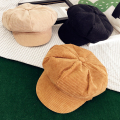 Korean Corduroy Women Hat Cute Spring Autumn Flat Painter Cap Vintage Casual Girls Beret Hat Black Camel Pink Beige