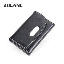 Mode qualität kreditkartenetui unisex creative business id metall bankkarteninhaber männer frauen schwarze karte pack zolanc marke