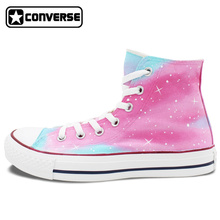 Women Men Converse Chuck Taylor Man Woman Shoes Pink Galaxy Original Design Hand Painted Shoes Boys Girls Sneakers Gifts