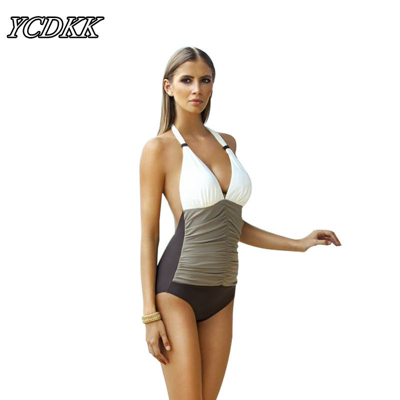 YCDKK 2017 Nouvelle Marque One Piece Maillot de Bain Plus La Taille Maillots De Bain Femmes Brésilien Bandage Sexy Dos Nu Beachwear Monokini Taille L