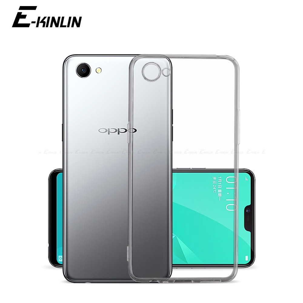 Silicone Phone <font><b>Case</b></font> For <font><b>Oppo</b></font> A83 A79 A77 A75 A73 A73s A71k A71 2018 A59 A57 <font><b>A39</b></font> A37 A33 AX5 A3s A3 A1 Clear TPU Back Cover image