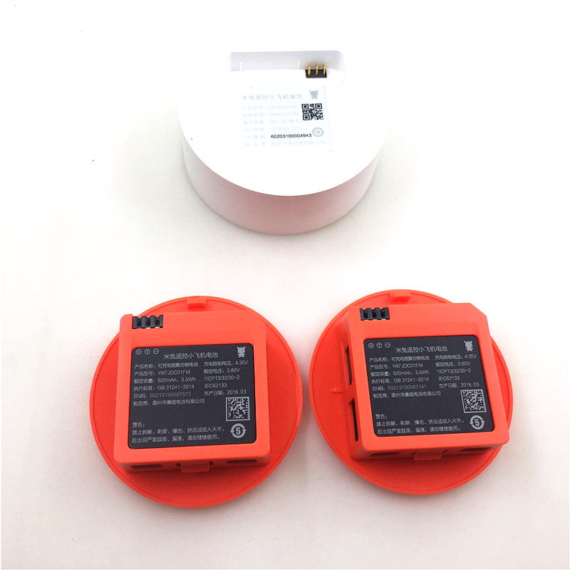 Original 2PCS 920mAh Battery + Charger for Xiaomi MiTu WiFi FPV Quadcopter Drone Spare Parts Accessories  In Stock