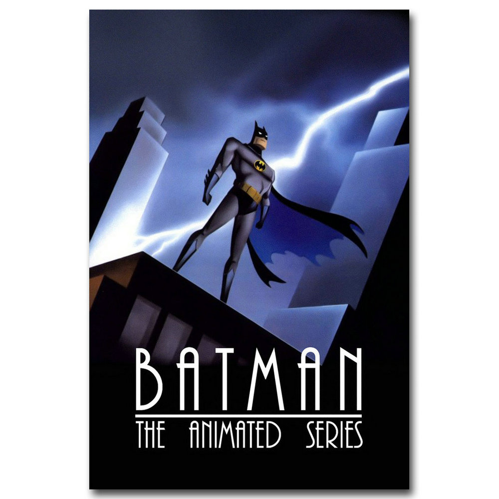 Joker Batman The Animated Series Superhero Silk Canvas Poster 12x18 24x36 inch