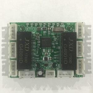 Image 3 - 8 linha de pinos mini design ethernet switch placa de circuito para ethernet switch módulo 10/100mbps 8 porta pcba placa módulo de interruptor led