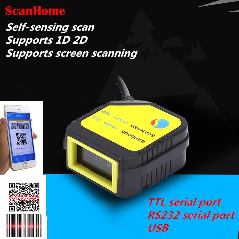 Nova wired Módulo de Digitalização QR Digitalização Cabeça Módulo Fixo Do Motor de Digitalização USB/Serial TTL apoio digitalização screen1D 2D código