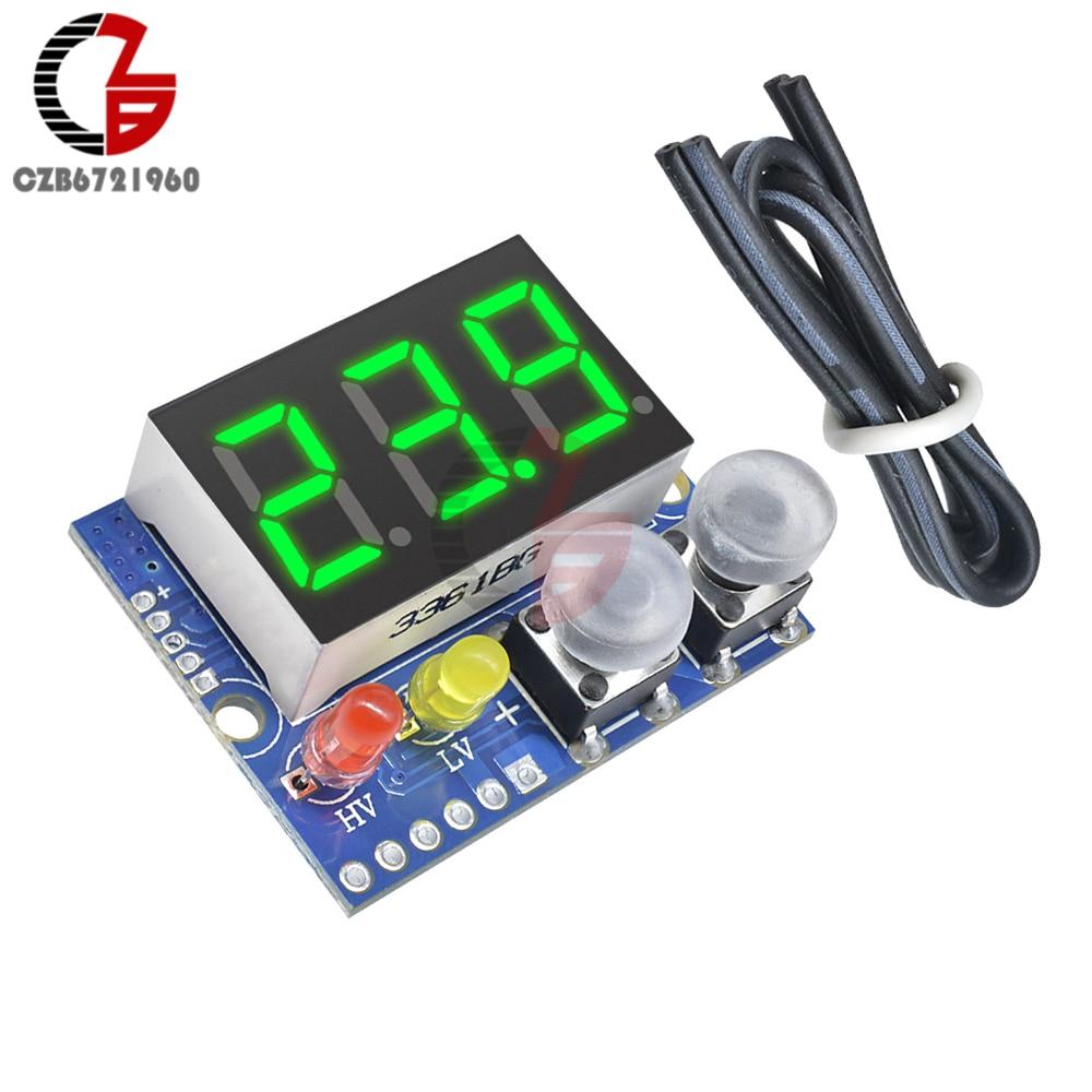 DC 0-100V LED Digital Voltmeter Buzzer Alarm Battery Indicator 5V 12V 24V Voltage Meter Tester Power Supply Over Charge Monitor