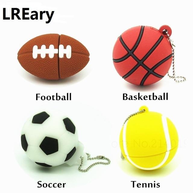 33c5da717 Esportes com bola de tênis de basquete de futebol dos desenhos animados  unidade flash usb silicone