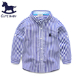 Boy's shirt Children's clothing spring&autumn long-sleeved shirt cotton striped shirts Casual style kids clothes high quality