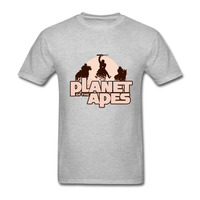 Apes On Horseback Planet Of The Apes T Shirt Men Tshirt Cotton Large Size 3XL T