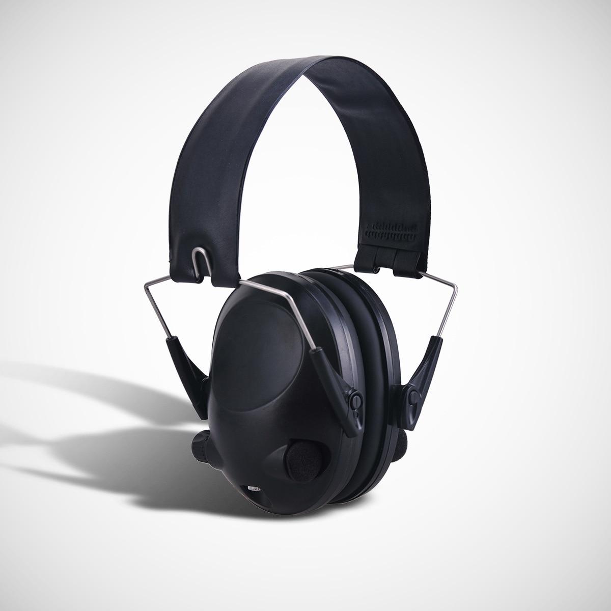 Electronic Ear Protector Impact Earmuff Anti-Noise Earmuffs Fold Ear Hearing Earmuffs Outdoor Hunting Shooting Earmuff 3m h6p3e cap mount earmuffs hearing conservation h6p3e ultra light with liquid foam filled earmuff cushions e111