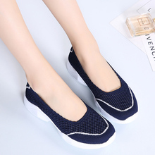 AURONET Breathable Casual Shoes Women Fashion Soft Sole Platform Sneakers Walking Loafers Zapatillas Mujer Verano