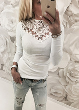 Spring Autumn women Lace Blouse