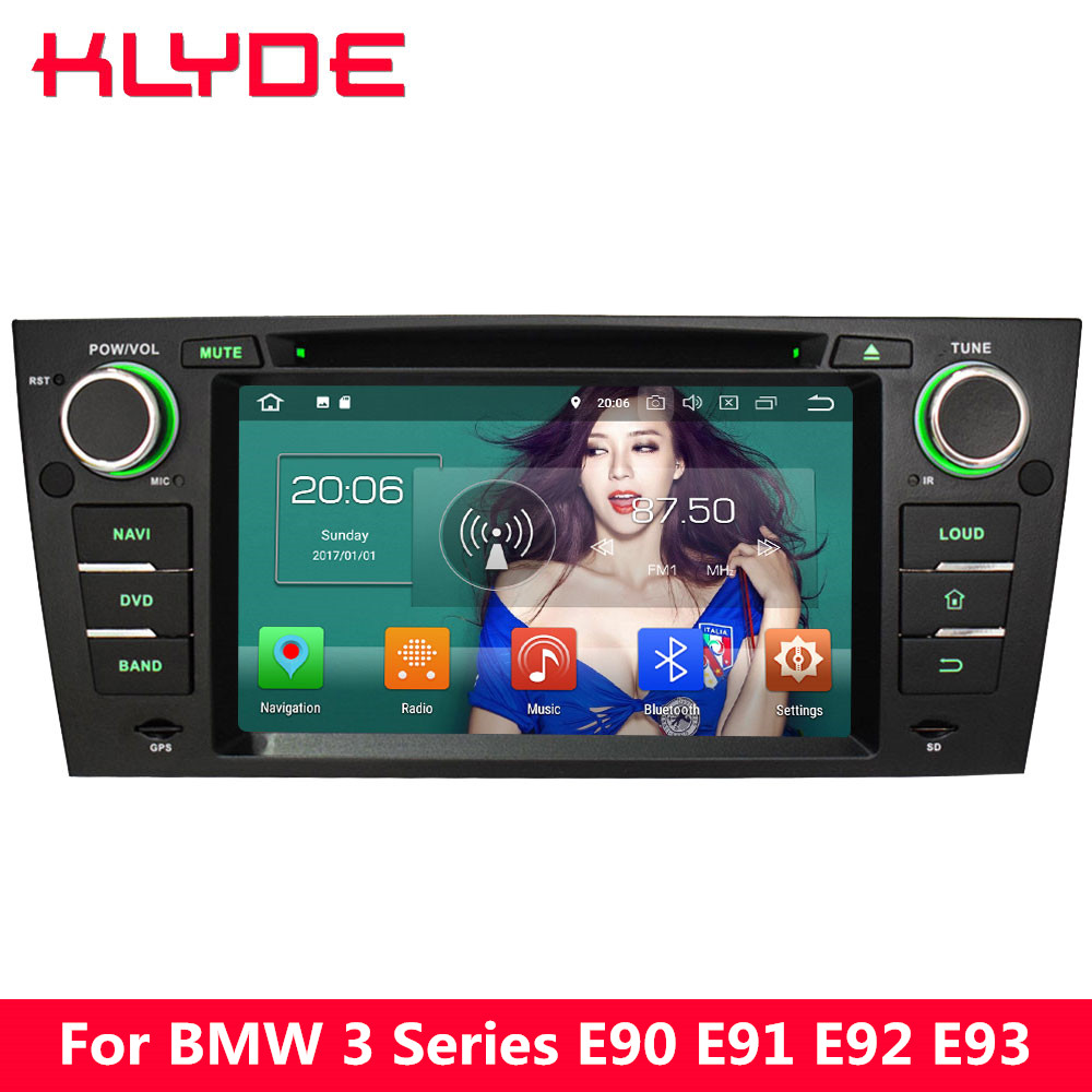 KLYDE 7&#8243; 4G WIFI Octa Core PX5 Android 8.0 4GB RAM 32GB ROM BT Car DVD Multimedia Player Radio For <font><b>BMW</b></font> 3 Series <font><b>E90</b></font> E91 E92 E93